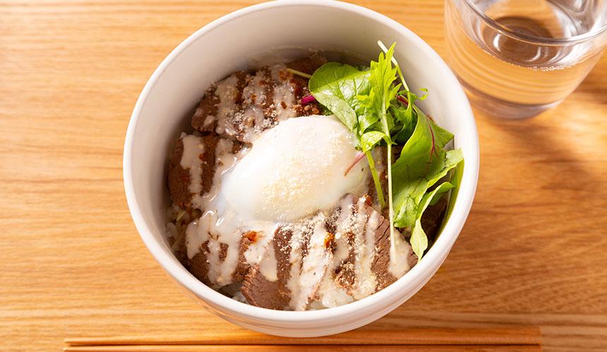 >ロースト鹿肉丼