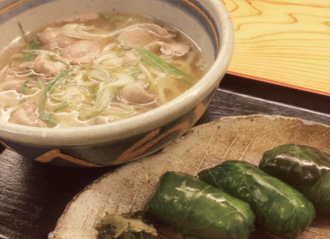 >しし肉香椒麺 わさび寿司セット